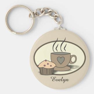 Kaffee-und Muffin-Schlüsselring für Schlüsselanhänger