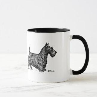 Kaffee und schottische Terrier sind alle, die ich Tasse
