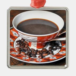 Kaffee Vintage Silbernes Ornament
