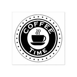 Kaffee-Zeit-Gummi-Briefmarke Gummistempel