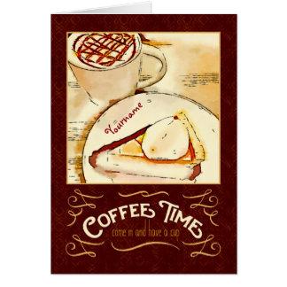 Kaffee-Zeit-Karamell Macchiato KürbiskuchenTeatime Karte