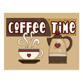 Kaffee-Zeit Postkarte
