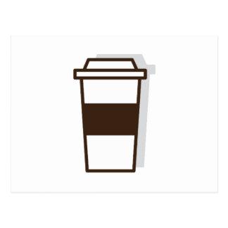 Kaffee zum zu gehen postkarte