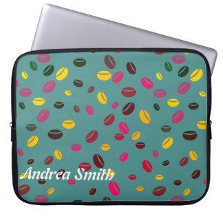 Kaffeebohne | addieren Ihren Namen Laptopschutzhülle