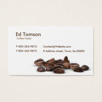 Kaffeebohne-Händler Visitenkarte