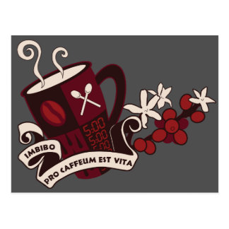 Kaffeebohne-Koffein-Latein Postkarte