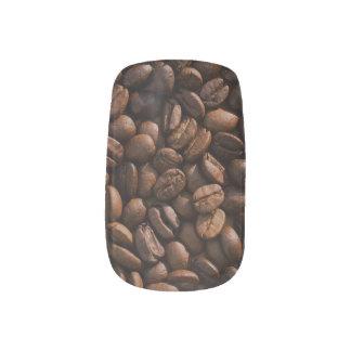 Kaffeebohne-Nagel-Kunst Minx Nagelkunst