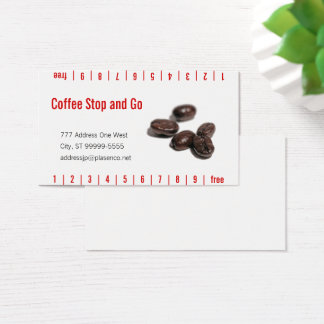 Kaffeebohnen Visitenkarte