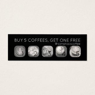 Kaffeegrammdurchschlag Mini-Visitenkarten