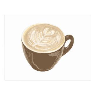 Kaffeeherzkunst Postkarte