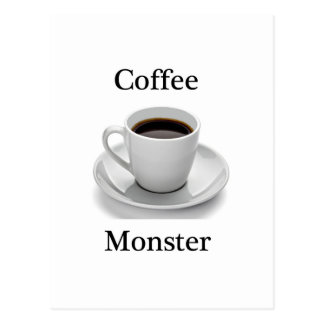 Kaffeemonster Postkarte