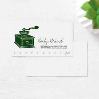 Kaffeemühle/Loyalitäts-Durchschlag Visitenkarte