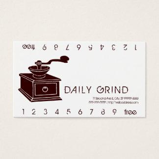 Kaffeemühle/Loyalitäts-Durchschlag Visitenkarten