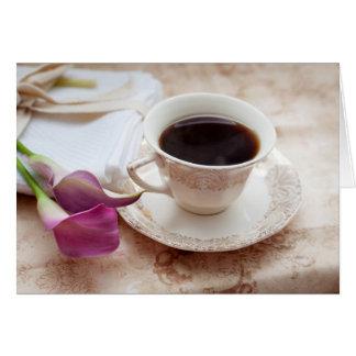 Kaffeepause Grußkarte