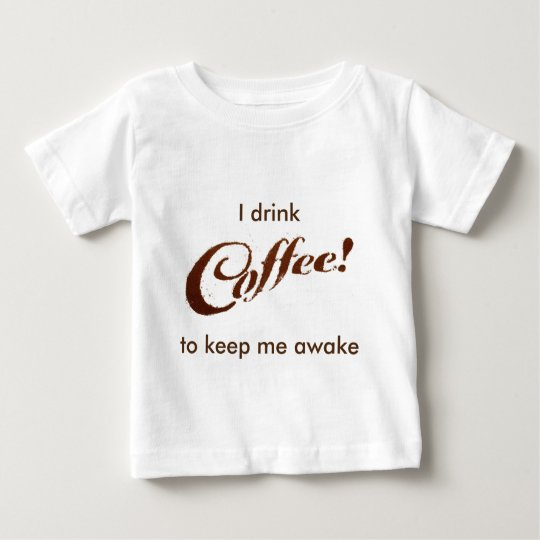 Kaffeesatz-Kaffee - Säuglings-Shirt Baby T-shirt