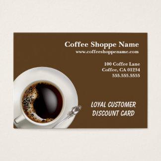 Kaffeeshoppe-Geschäft und Lochkarten Jumbo-Visitenkarten