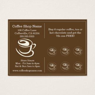 Kaffeeshoppe-Lochkarten Jumbo-Visitenkarten