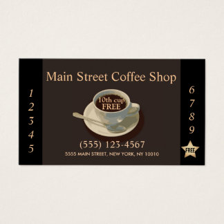 Kaffeestube-Kunden-Loyalitäts-Durchschlag Visitenkarten