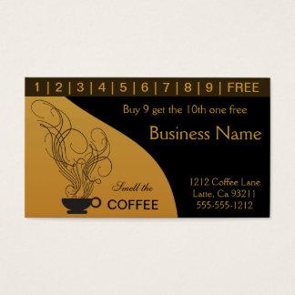 Kaffeestube-Lochkarte Visitenkarten