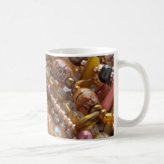 Kaffeetasse natürliche Earthtone, Bernstein-u.