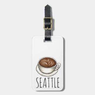 Kaffeetasse-personalisierter Taschen-Umbau Kofferanhänger