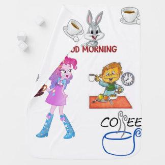 Kaffeetee-Fleece-Weißdecke der Kinder Kinderwagendecke
