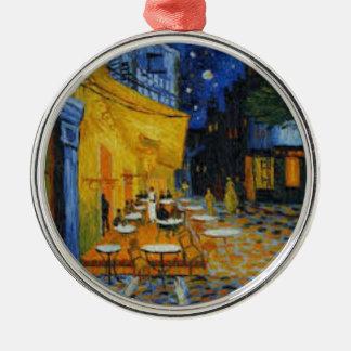 Kaffeeterrasse schadet es von Vincent van Gogh Silbernes Ornament