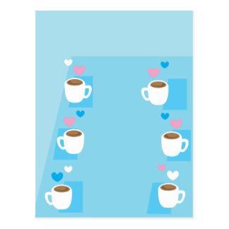 Kaffeeverein-Gruppen-Ansammlung der Kaffee Postkarte