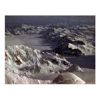 Kahiltna Gletscher, wie vom Mount McKinley Postkarte
