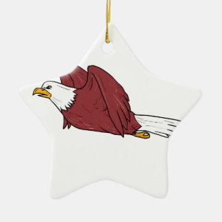 Kahler Adler-Fliegen-Cartoon Keramik Stern-Ornament