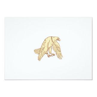 Kahler unten zeichnende Adler-Fliegen-Flügel Karte