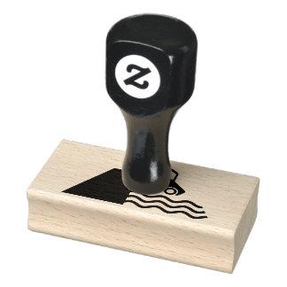 Kai-Warnzeichen-Ikone Gummistempel