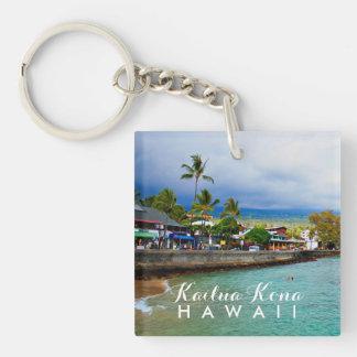 Kailua Kona Pier-Hawaii-Ölfarbe-Digital-Kunst Schlüsselanhänger