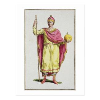 Kaiser Otto III (980-1002), graviert von Pierre DU Postkarte