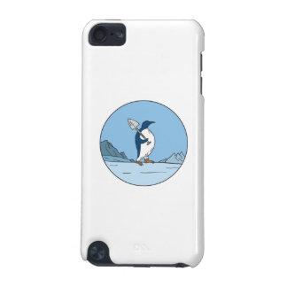 Kaiser-Pinguin-Schaufel Antartica Kreis-Monolinie iPod Touch 5G Hülle