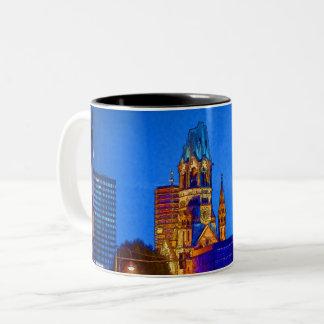 Kaiser Wilhelm Erinnerungskirche, Berlin, Illu Zweifarbige Tasse