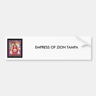 Kaiserin von Zion Autoaufkleber