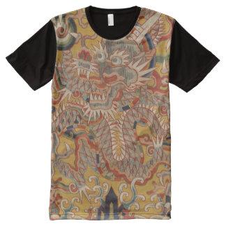 KaiserMing asiatische chinesische Drache-Kunst T-Shirt Mit Bedruckbarer Vorderseite