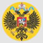Kaiserstandard des Kaisers von Russland Runder Aufkleber
