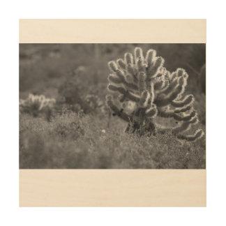 Kaktus Arizonas Cholla Holzwanddeko