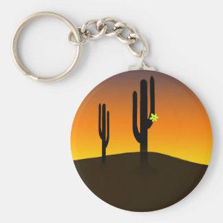 Kaktus-Blume Schlüsselanhänger
