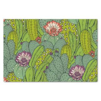 Kaktus-Blumen-Muster-Seidenpapier Seidenpapier