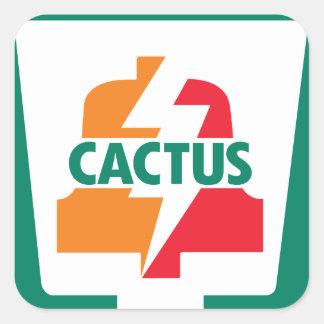 Kaktus elf Bell 1 entworfen durch Robitussin Quadratischer Aufkleber