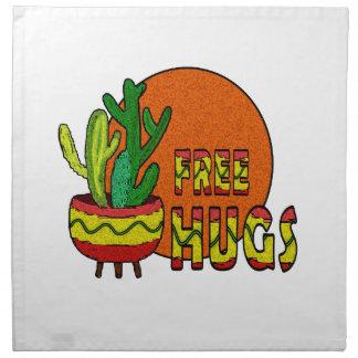 Kaktus - geben Sie Umarmungen frei Stoffserviette