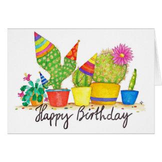 Kaktus-Geburtstagsgrußkarte durch Nicole Janes Grußkarte