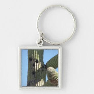 Kaktus mit einem Gesicht Keychain Schlüsselanhänger