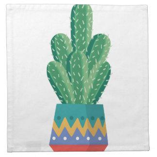 Kaktus-Pflanzen-Blumen-Entwurfskunst Serviette