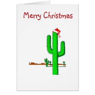 Kaktus-Weihnachtsbaum - Gruß-Karte Karte