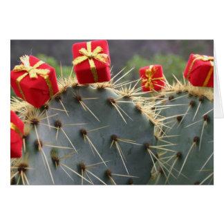 Kaktus-Weihnachtsgrußkarte Grußkarte
