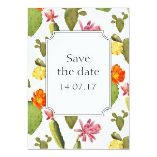 Kaktushochzeit retten die Tageskarte 12,7 X 17,8 Cm Einladungskarte